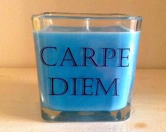 Carpe Diem Square Soy Candle