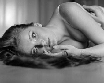 Fine Art Black and White Sensual Portrait