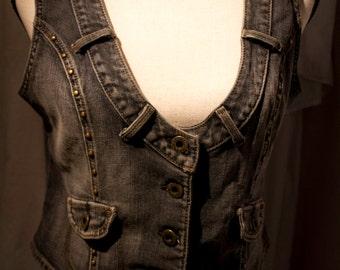 Guess Jeans XL Button Up Denim Vest