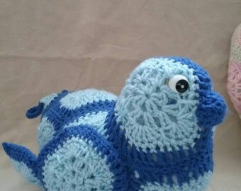 Hand Crocheted Bluebird of Happiness