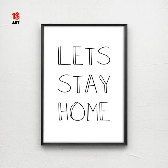 Items Similar To Lets Stay HOME
