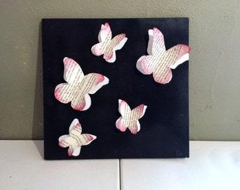 3D butterfly shadow art