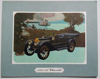 Artwork 1911-12 Chevrolet Car mounted on board Print Sample