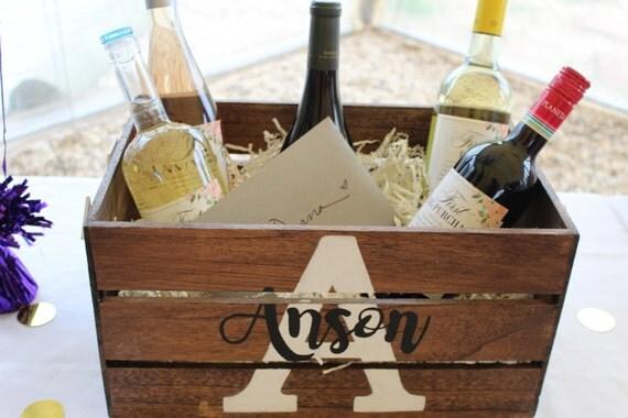 Large Custom Wine Crate / Wedding Wine Crate / Personalized Wine Crate ...