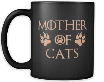 Mother Of Cats Mug Black 03