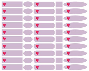 Small pink - heart - 240 stickers