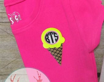 Ice Cream Cone monogram