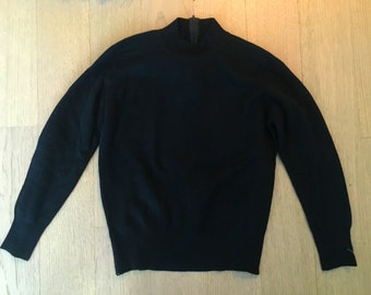Vintage Black Cashmere Pullover (size small)