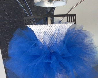 Tutu Tulle white and Royal blue dress