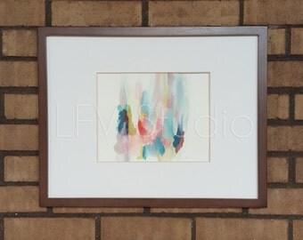 Original Abstract Watercolor & Acrylic Painting Multi-color Series #001 - LFV Studio