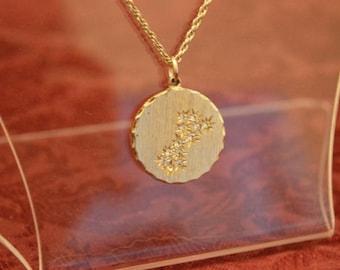 Zodiac sign of Scorpio - gold-plated pendant