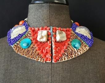 Collar multi color necklace