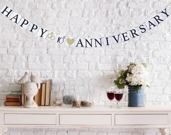 Happy Anniversary banner, Anniversary banner,