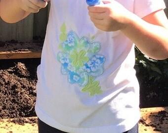 Hibiscus Flower Infant Onsie/ Toddler Tshirt