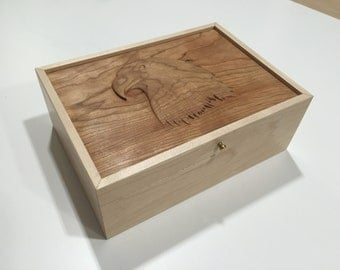 Carved Eagle Jewelry/Keepsake Box