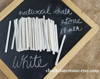 White Slate Pencils White Chalk Pencils Natural Slate Stone Set Of 50 Pencils