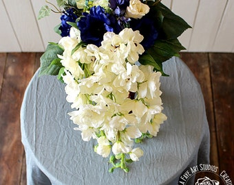 Cascading Silk Bridal Bouquet