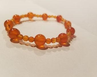 Styled Carnelian Bracelet