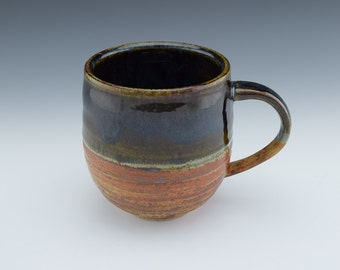 Large Mug for Coffee or Tea with handle, wheelthrown