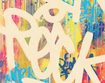 painting modern colorful graffiti