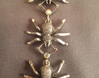 Spider Bracelet with Crystal Accents