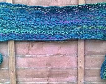 Handmade crochet wrap/scarf/shawl