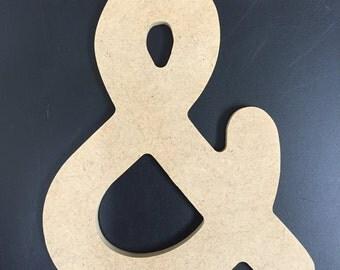 "Unfinished Wood Symbols - 1/4"" MDF - Comic Sans MS font"
