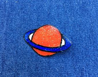 Glitter Planet Pin