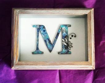 Quilled Monogram M