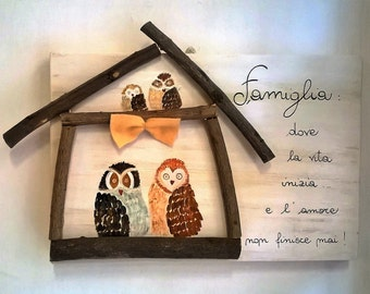 Picture family owls
