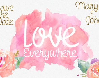 Love Everywhere Font, Hand Made, Sweet Price, Commercial Download