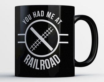 Train Lover Gift - Railroad Mug - Railway Coffee Cup - Model Train Gifts