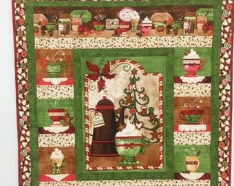 Christmas Shop wall hanging 40 inches wide by 46.5 inches long