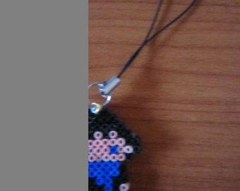 Hama beads keychain