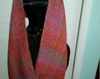 Light weight orange tone shawl