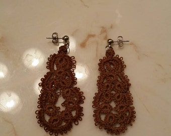 Made to order- tatted earrings.