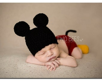 Mickey Mouse Crochet Prop Pattern, Mickey Mouse Crochet, Mickey Mouse Pattern, Mickey Mouse Crochet Prop, Newborn Mickey Mouse, Mickey Photo