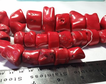Chunky Red Coral Beads