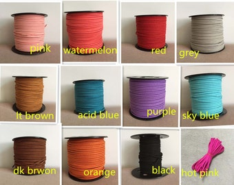 Faux Suede Cord, Vegan Suede Cord, Suede Thread, Soft Suede Cord, 3mm Suede Cord, Jewelry Supplies, Jewelry Making Cord, 10meters,FAU-09