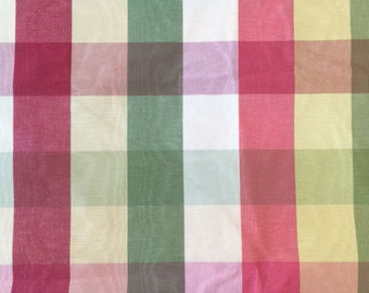 Red Green Gold Moire Fabric