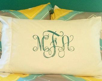 Monogrammed Pillowcase