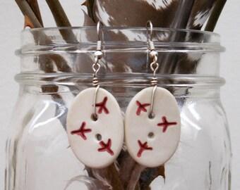 Footprint Earrings