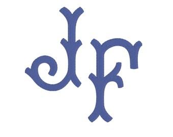 Paige Monogram Font, 2 inch