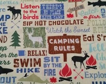Camping Words Dog Bandanas