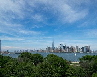 New York City Skyline From Ellis Island