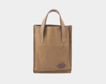 Shopper Bag cognac/d. brown