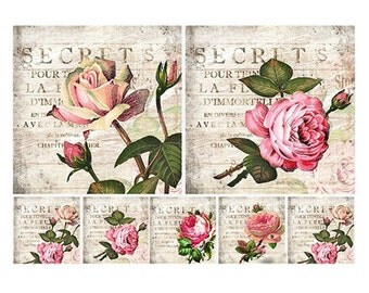 Decoupage paper napkins, nature, flora, Roses, flowers
