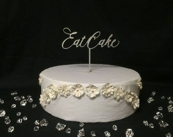 Eat Cake V1 ~ Wedding Cake Topper ~ Custom Cake Toppers ~ by JustCan'tTopIt