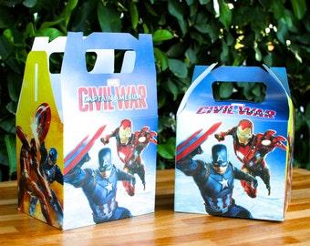 Avengers Party treat Box - favor box