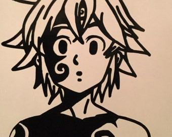 Seven Deadly Sins: Meliodas Demon Form Decal